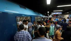اختناقات للمواطنيين بمحطات مترو الانفاق