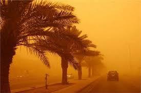 غلق طريق السويس الزعفرانة لوجود عاصفة ترابية شديدة.