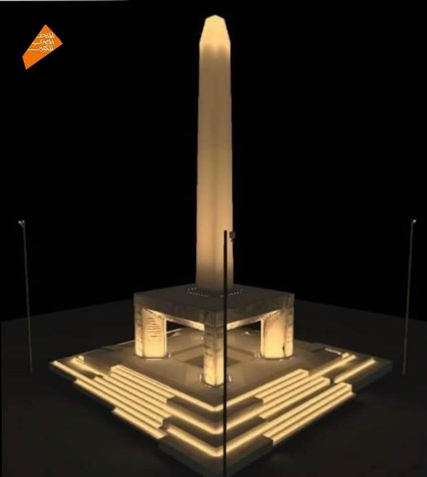 أول مسلة معلقة فى العالم داخل المتحف المصرى الكبير