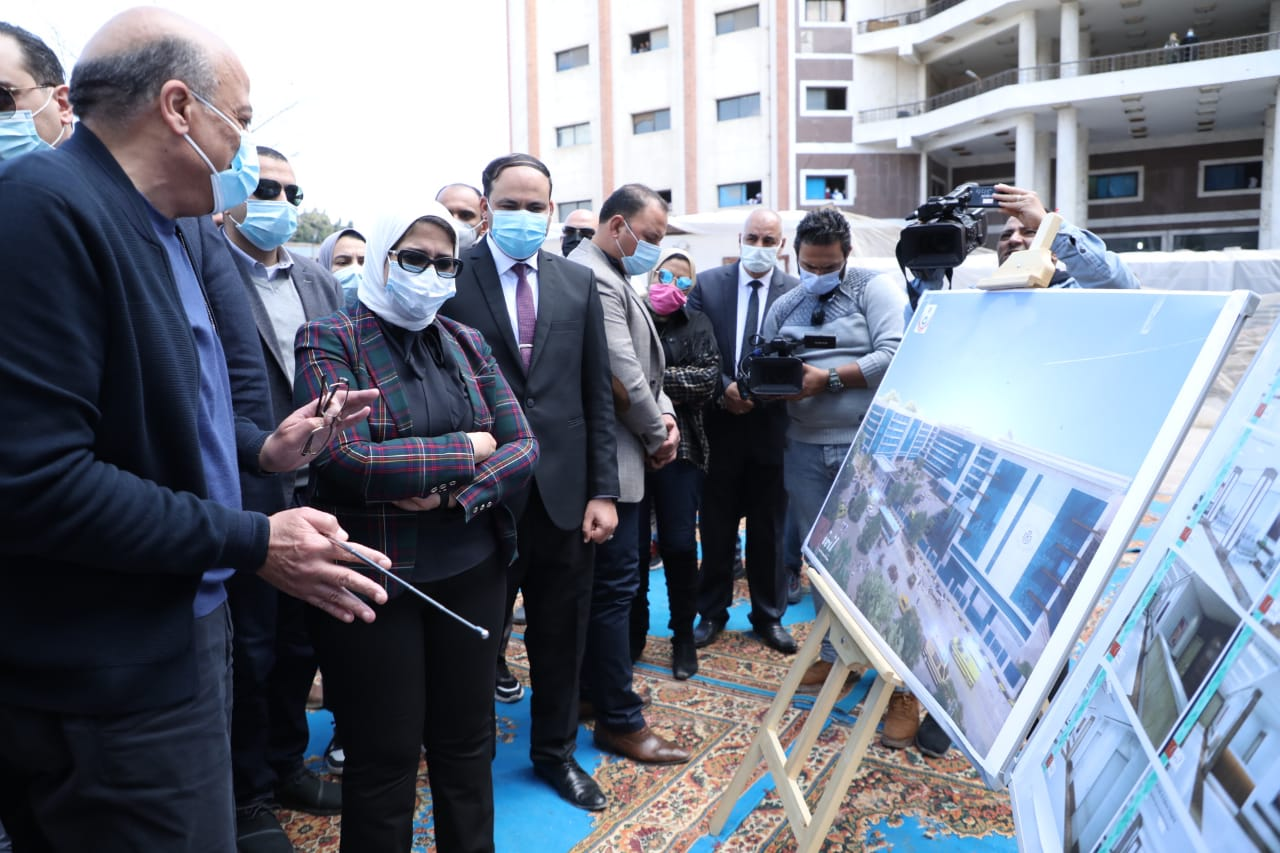 وزيرة الصحة تتفقد أعمال الإنشاءات بمستشفى التل الكبير بتكلفة إجمالية 534 مليون جنيه