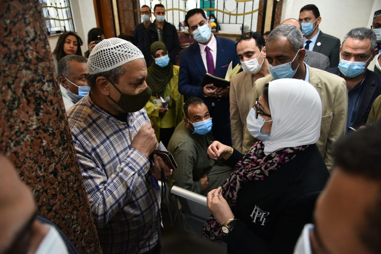 وزيرة الصحة: تسجيل 900 ألف مواطن بمنظومة التأمين الصحي الشامل بمحافظة الأقصر