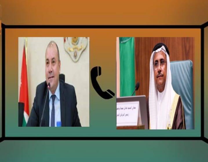 خلال اتصال هاتفي.. رئيس البرلمان العربي يؤكد على محورية الدور الأردني في دعم القضايا العربية ومساندة الأشقاء