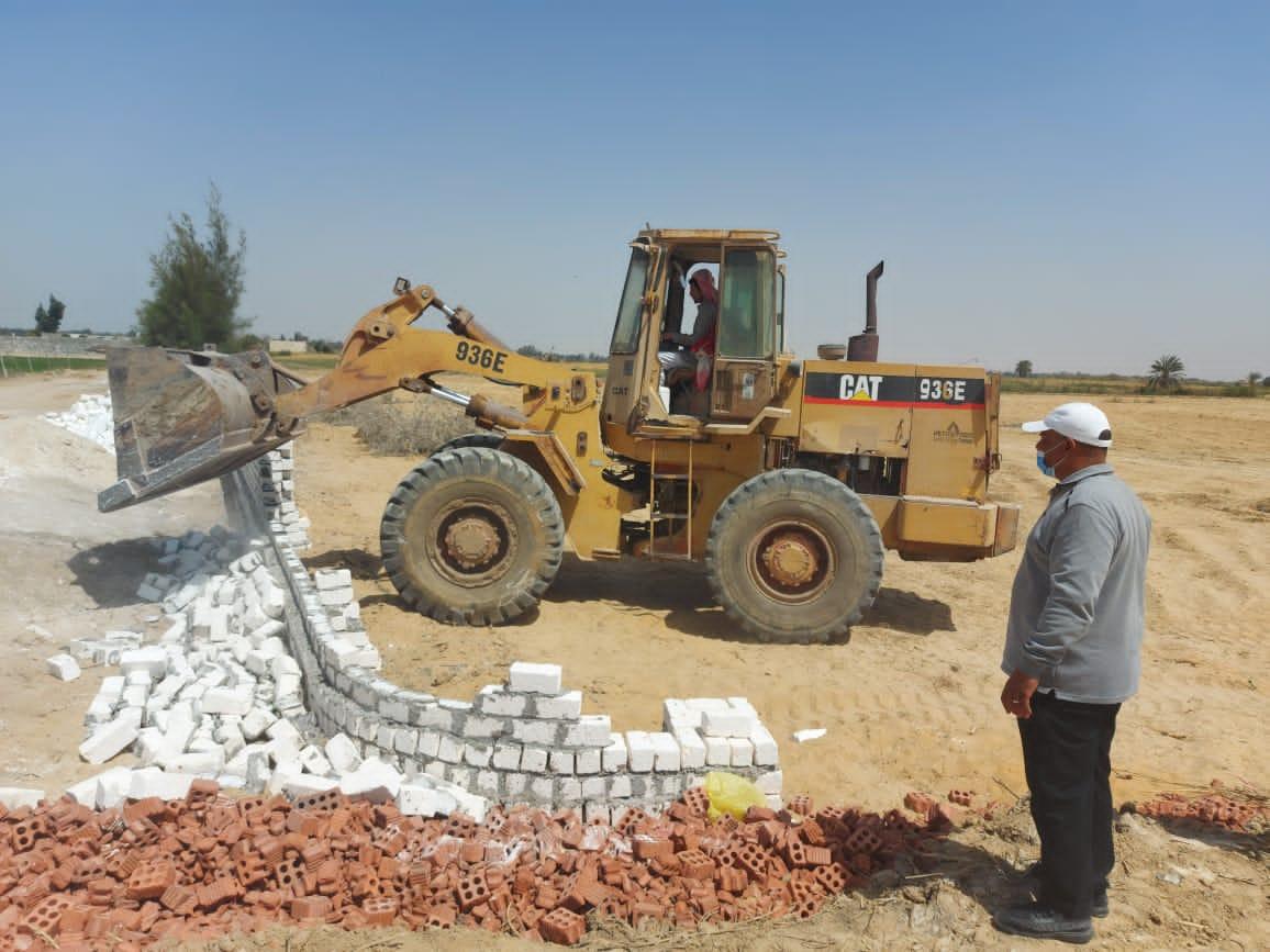 إزالة 4 حالات تعدي وإيقاف أعمال على مساحة 550 متر مربع بالبحيرة