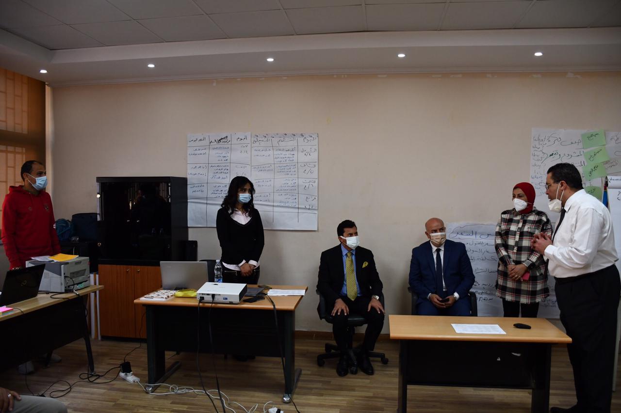 وزير الشباب يشهد فعاليات دورة تدريب مدربين tot لصقل مدربين ريادة الأعمال