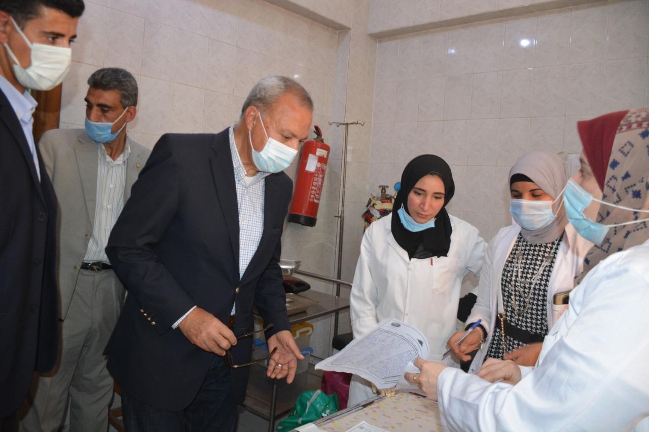 محافظ القليوبية يشهد انطلاق قافلة طبية بالتنسيق مع جامعة بنها بقري نوى بشبين القناطر