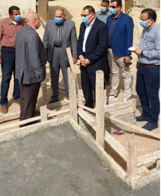 محافظ الشرقية يتفقد أعمال انشاء مجمع خدمات قصاصين الشرق بمركز ومدينة الحسينية