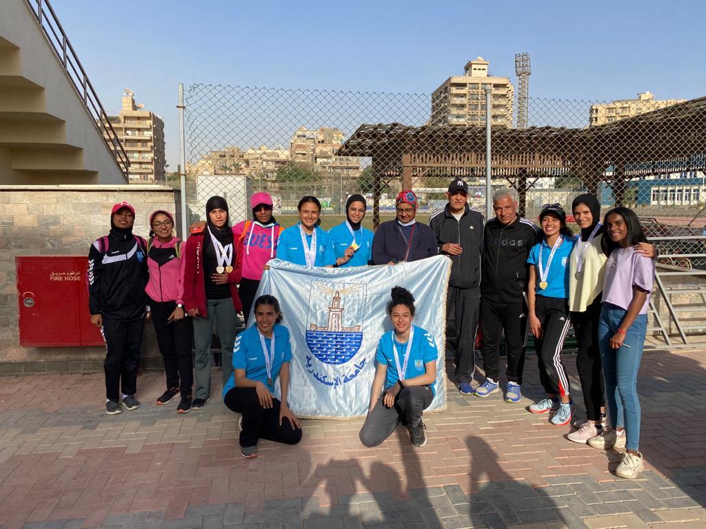 جامعة الإسكندرية تفوز بالمركز الأول فى بطولة الشهيد الرفاعى ال (٤٨) لألعاب القوى