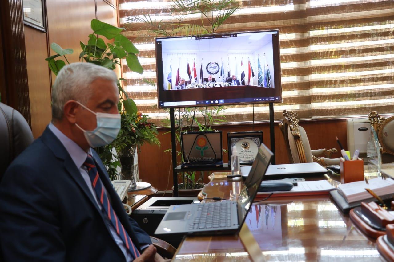 مبارك يشهد افتتاح الدورة الثالثة والخمسون الإفتراضية للمؤتمر العام لاتحاد الجامعات العربية باستضافة المملكة العربية السعودية