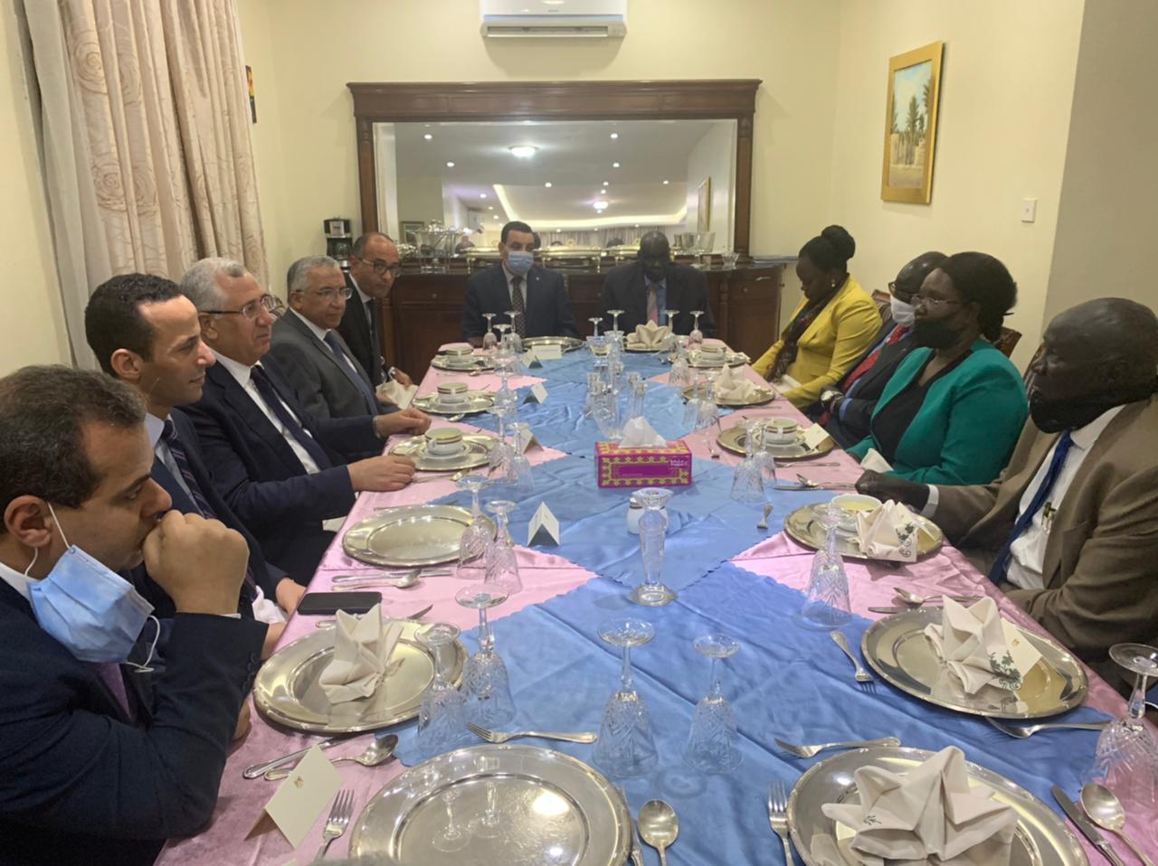 وزير الزراعة يبحث في جوبا آفاق التعاون الزراعي بين مصر وجنوب السودان