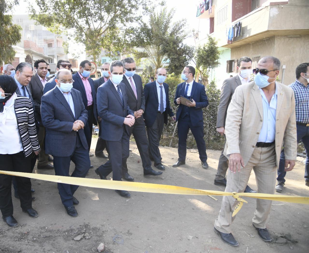 وزير التنمية المحلية يتفقد المشروعات الجارية بمركز زفتي ضمن برنامج تطوير الريف المصري