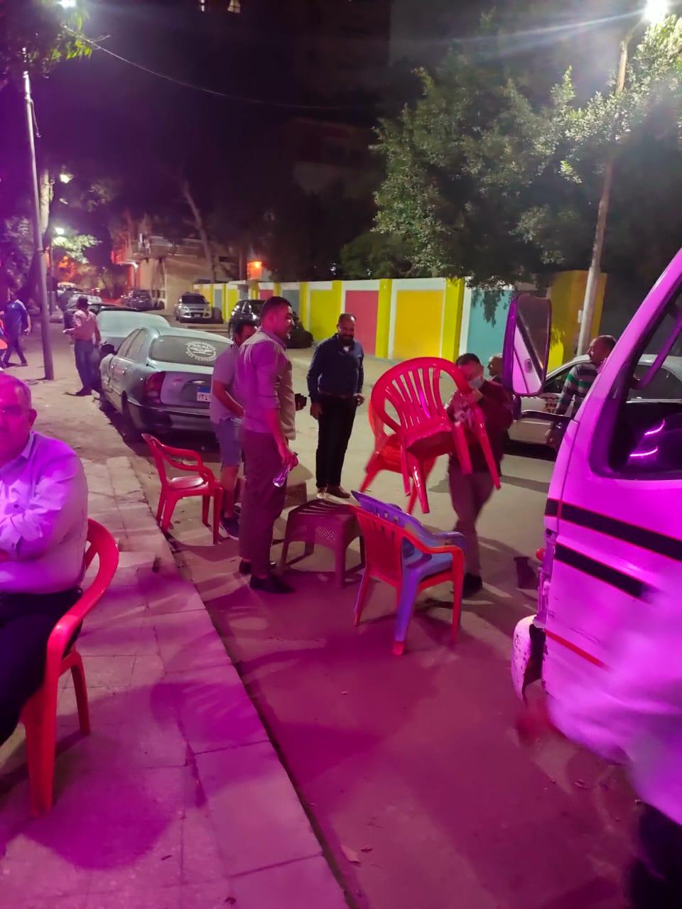رفع وازالة الاشغالات من شارع دمشق بالمعادى