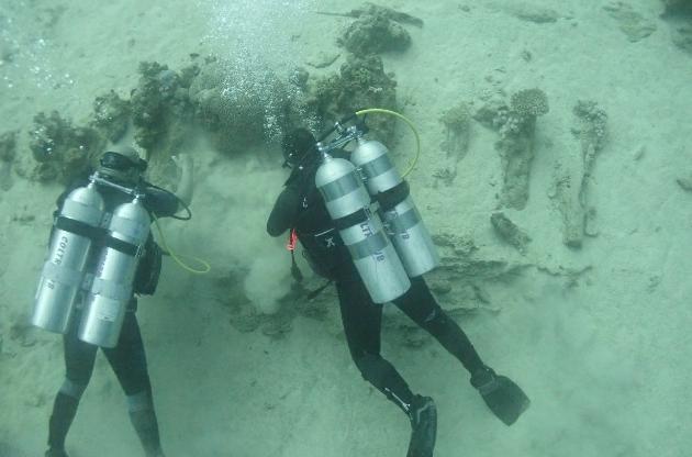 البعثة الأثرية لكلية الآداب جامعة الإسكندرية تنجح في الكشف عن مقدمة السفينة الغارقة بجزيرة سعدانا بالبحر الأحمر