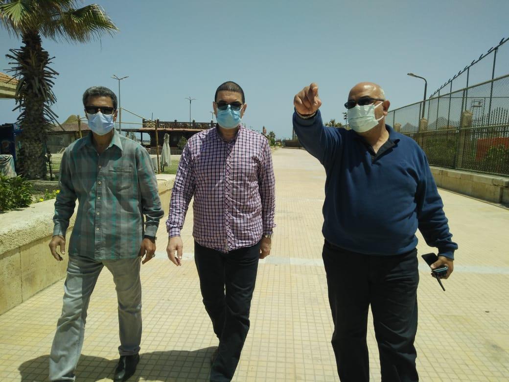 جولة تفقدية لسكرتير محافظة بورسعيد لمتابعة تطبيق قرار اغلاق الشاطئ