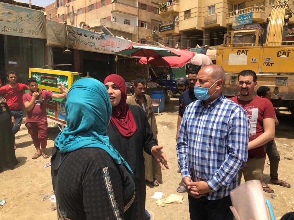 """نائب المحافظ: إزالة سوق عشوائى فى مدخل مدينة الأمل """"الهجانه"""""""