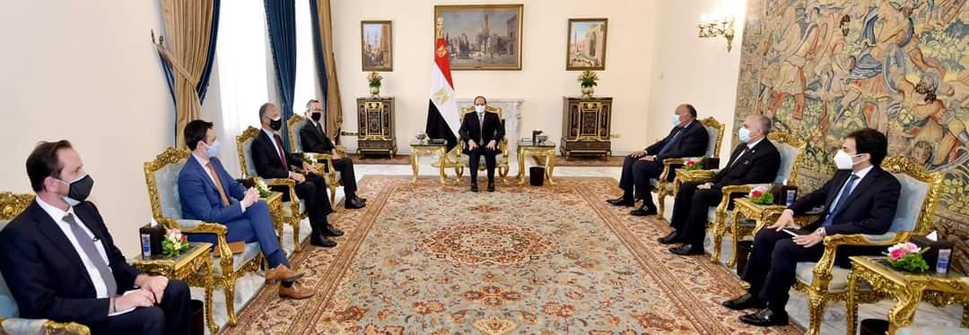 """الرئيس السيسى للمبعوث الامريكي فيلتمان .. """"قضية سد النهضة وجودية بالنسبة لمصر التى لن تقبل بالإضرار بمصالحها المائية أو المساس بمقدرات شعبها"""