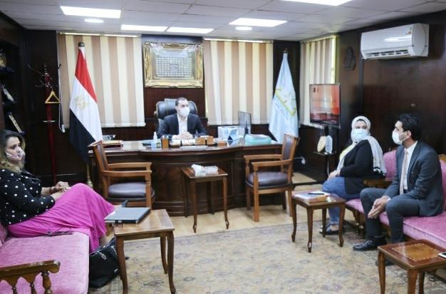 نائب محافظ كفر الشيخ يناقش عددا من الملفات مع وفد الأكاديمية الوطنية للتدريب