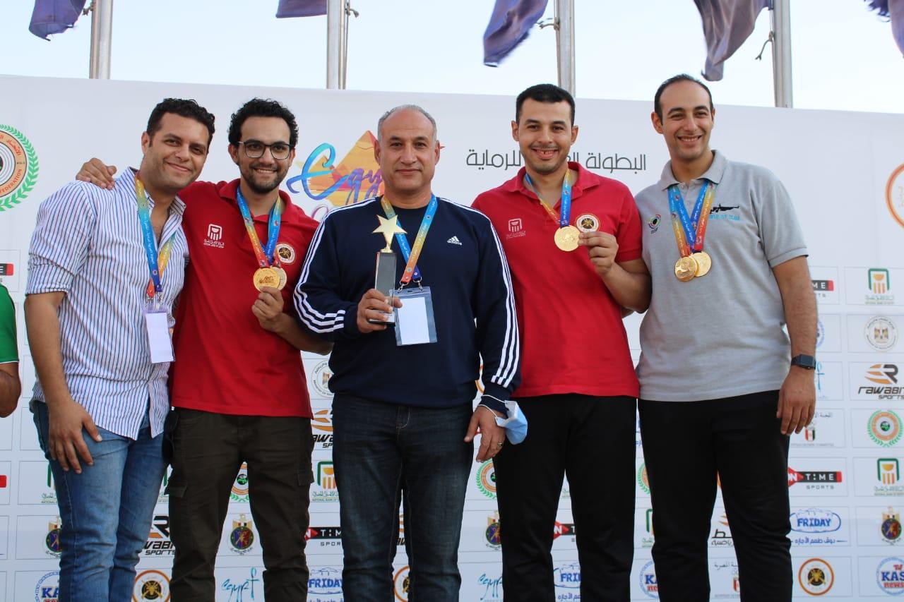 ختام منافسات فرق وفردى المسدس والبندقية هواء ضمن فعاليات البطولة العربية للرماية