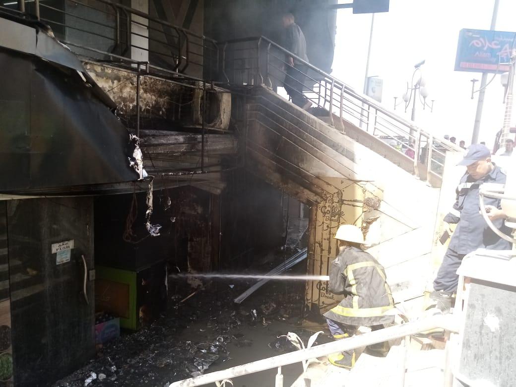 جودة: السيطرة على حريق بمحل بشارع غصن الزيتون مع شارع كارفور بالمعراج