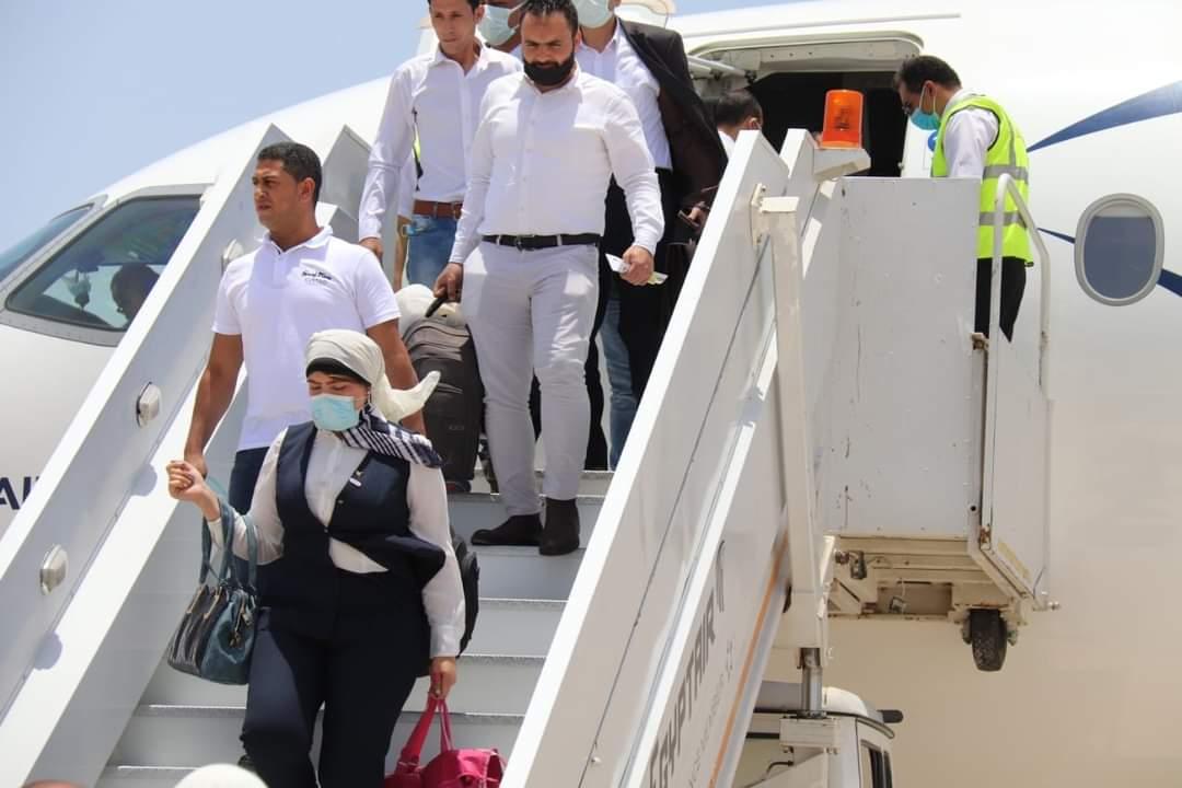 وصول أول طائرة  لشركة مصر للطيران  إلى مطار برنيس الدولى   القاهرة ٧ يونية ٢٠٢١