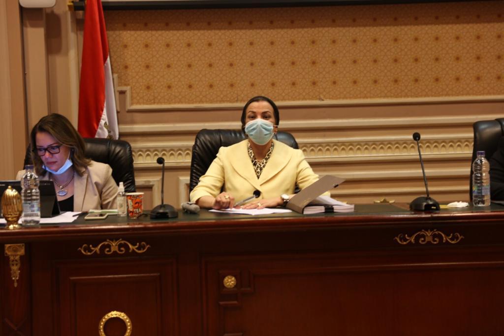 وزيرة البيئة تستعرض مع أعضاء لجنة الطاقة والبيئة بمجلس النواب مسودة اللائحة التنفيذية لقانون المخلفات