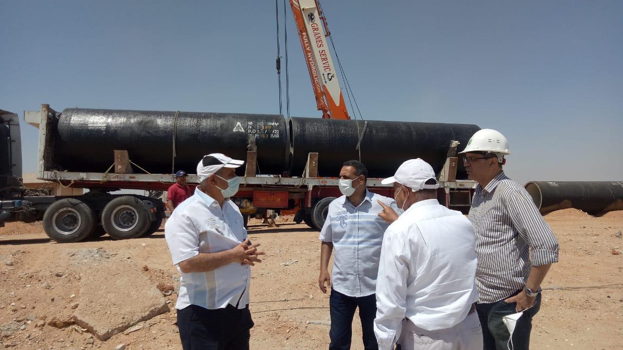 """مسئولو """" الإسكان"""" يتفقدون سير العمل بمشروع محطة مياه جديدة بمدينة بدر"""