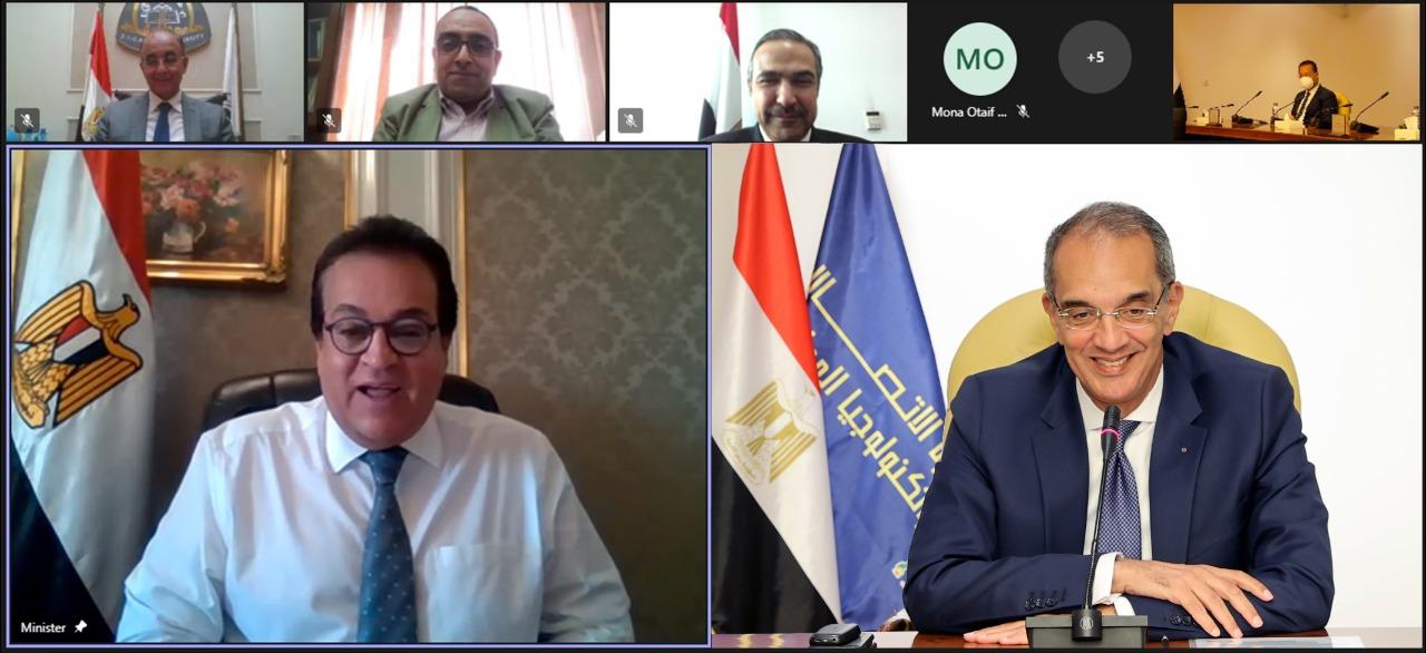 وزيرا التعليم العالى والاتصالات يشهدان توقيع بروتوكول تعاون لإنشاء مركز إبداع مصر الرقمية بجامعة الزقازيق