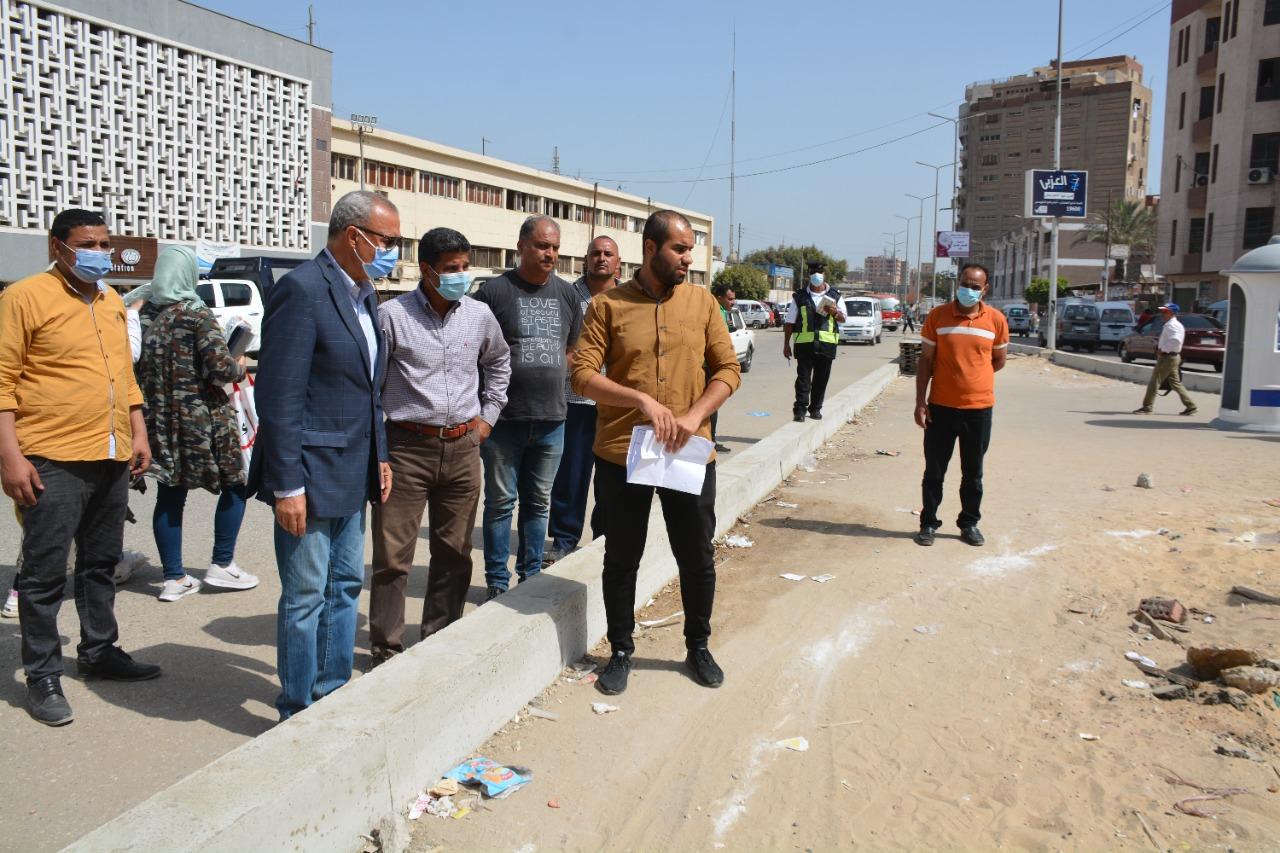 محافظ القليوبية يتابع أعمال تطوير ميدان المحطة بمدينة بنها