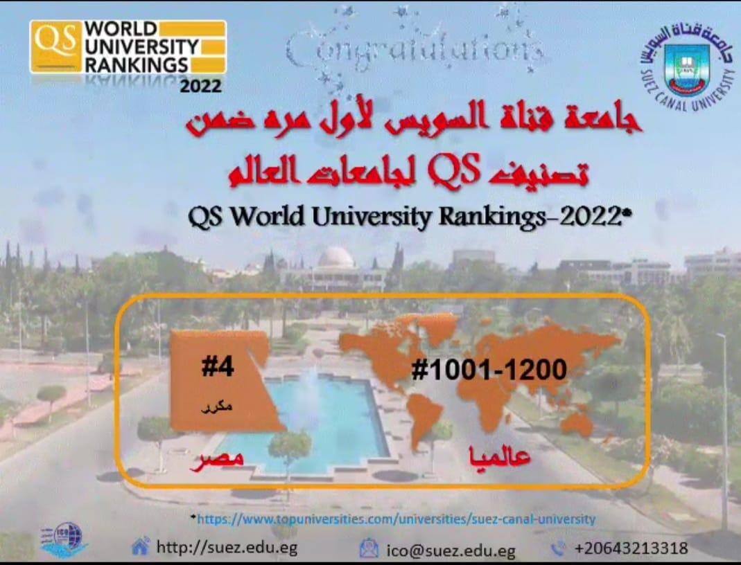 ظهور متقدم لجامعة قناة السويس في التصنيف العالمي QS