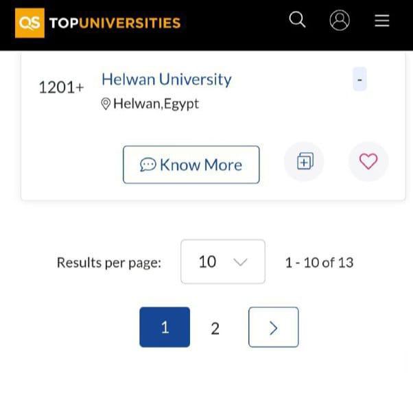 جامعة حلوان تحقق تقدمًا ملحوظًا فى تصنيف QS العالمي