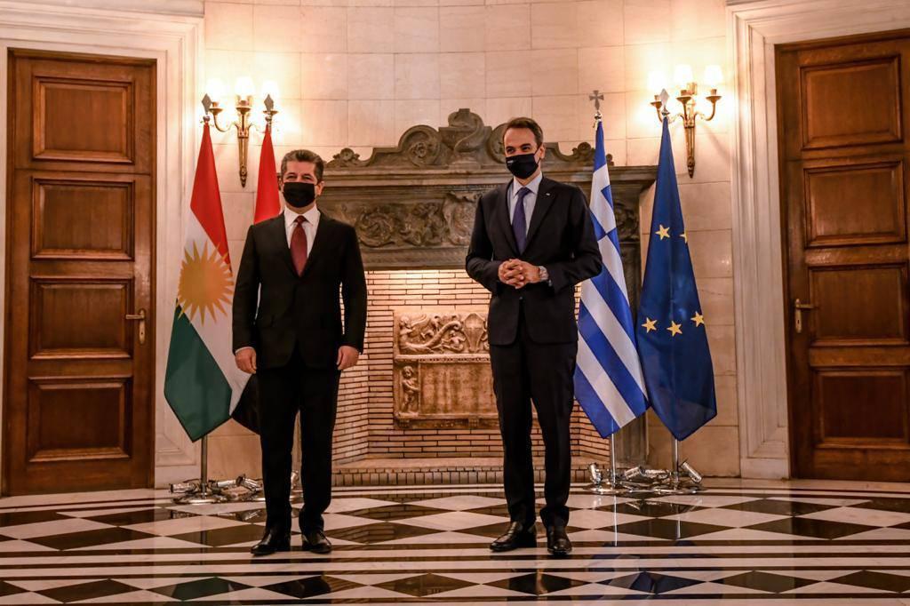 مسرور بارزاني ورئيس وزراء اليونان يبحثان التعاون الاقتصادي المشترك