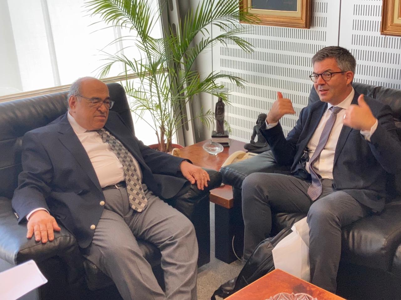 مدير مكتبة الإسكندرية يستقبل مدير المعهد الفرنسي للآثار الشرقية الجديد