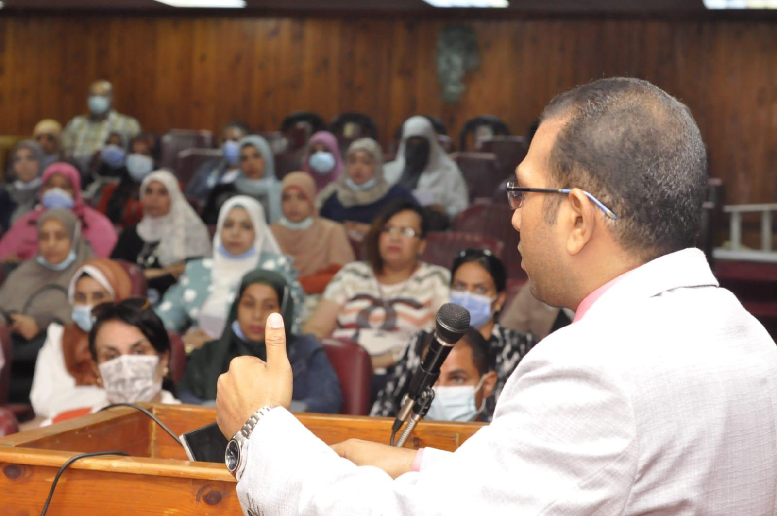 اليوم العلمي الثالث لمكافحة العدوى بمستشفيات المنيا الجامعية