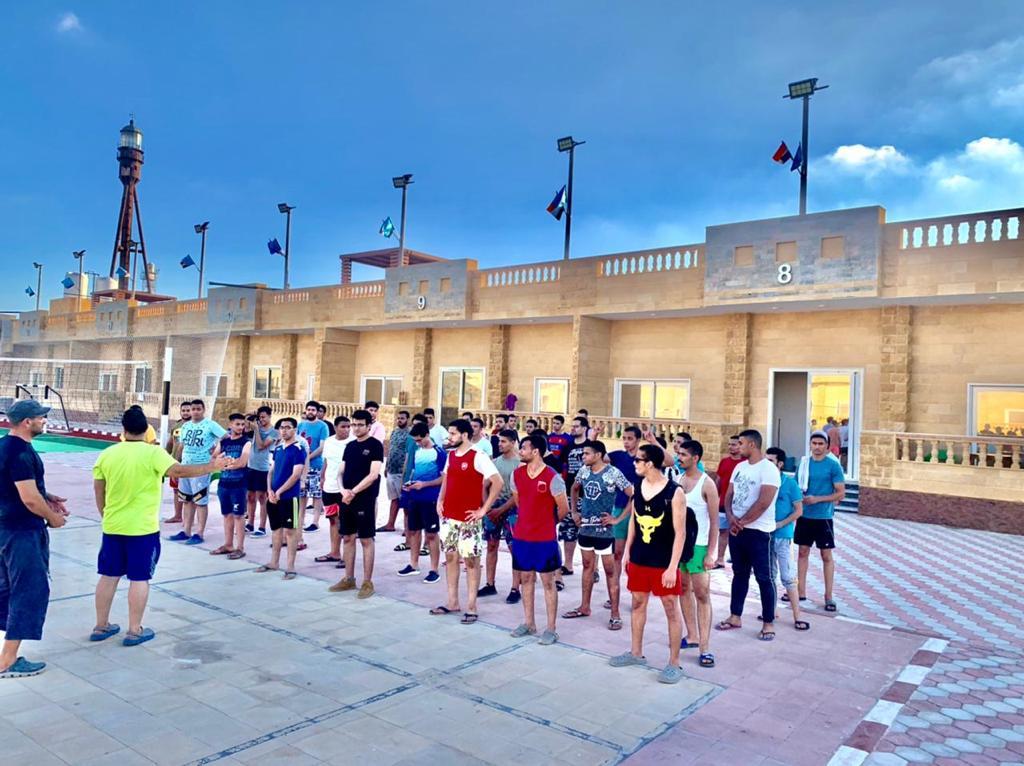 بدء استقبال الأفواج  بالمعسكر الصيفي الدائم لجامعة طنطا في مصيف بلطيم
