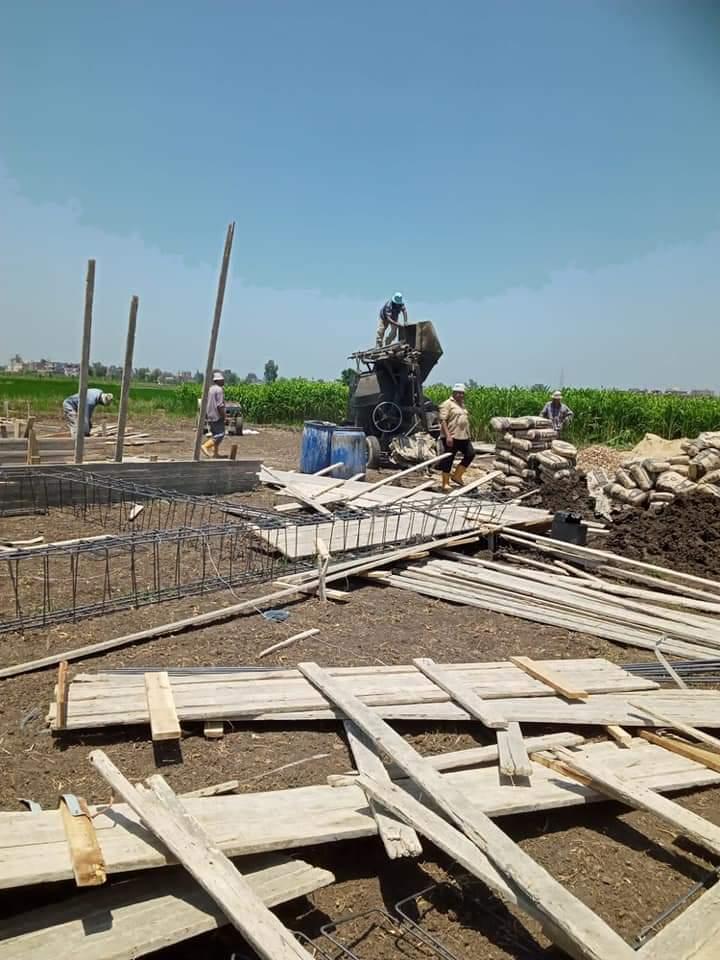 إزالة 6 حالات تعدي على مساحة 1053 متر مربع بمركزي المحمودية و دمنهور