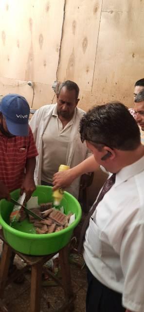 في احدي الحمالات التفتيشيه علي محافظه الشرقيه ضبط العديد من الاغذيه واللحوم في الحسينيه والقرين