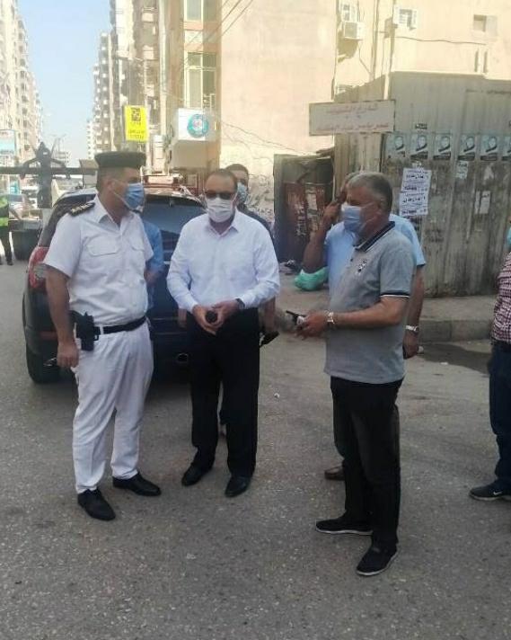 تحرير ٣٨ محضر لعدم إرتداء الكمامة وإعدام  بمركزي كوم حمادة  ووادي النطرون
