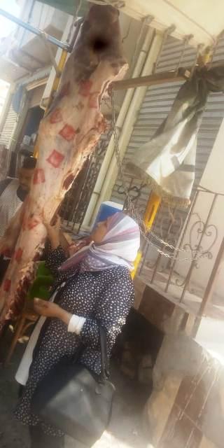ضبط كميه من اللحوم الفاسده اثناء عمليه التفتيش حفاظا علي سلامه المواطنين