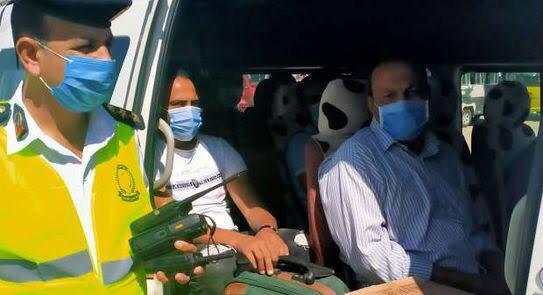 ضبط 9591 شخص لعدم الإلتزام بإرتداء الكمامات الواقية