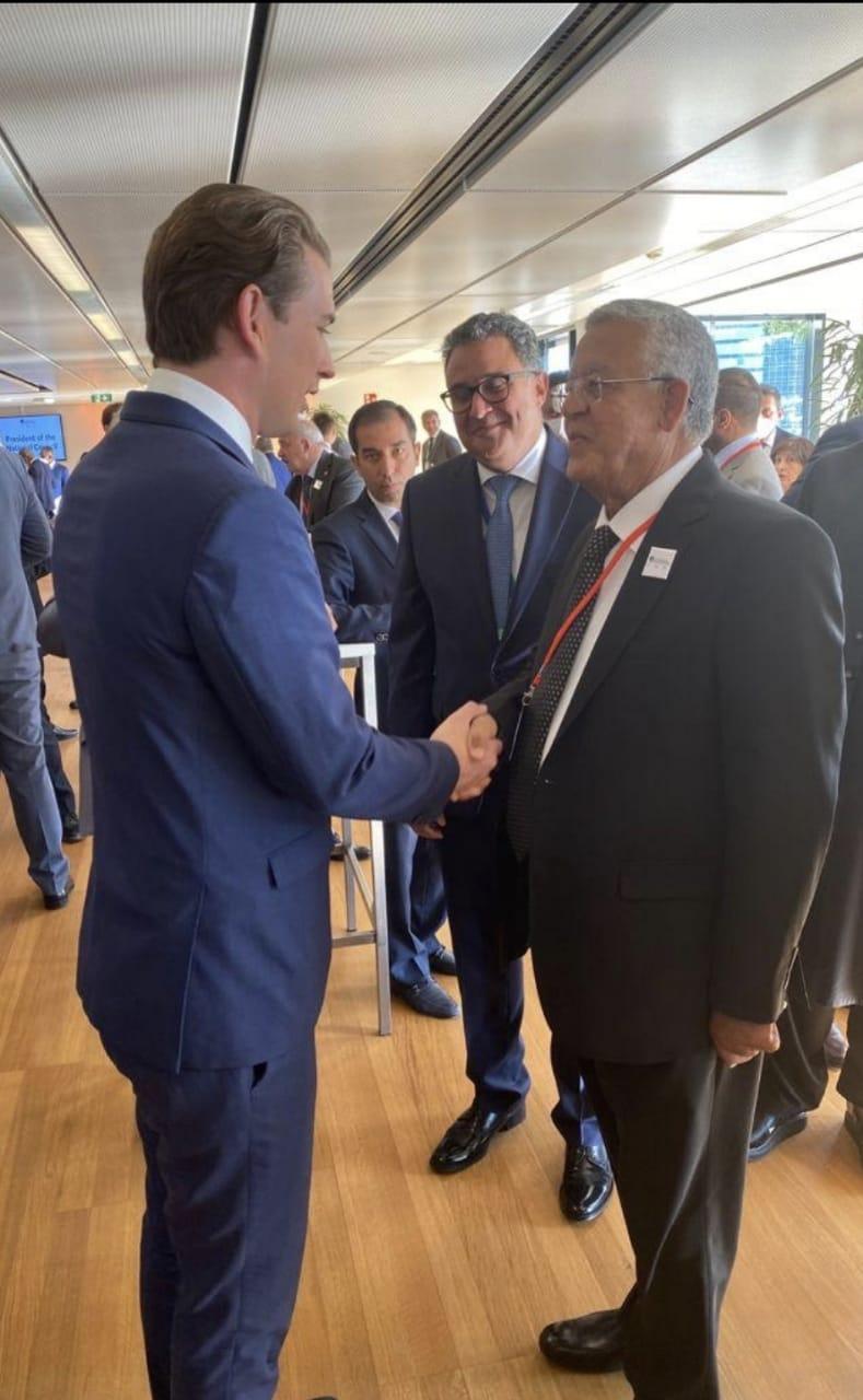 رئيس مجلس النواب يشارك في حفل الاستقبال الذي ينظمه المستشار النمساوي لرؤساء البرلمانات بڤيينا