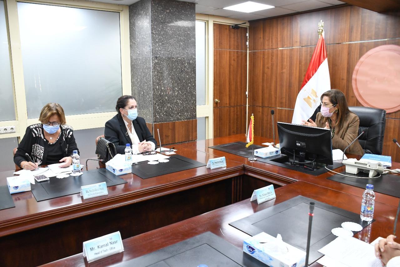 وزيرة التخطيط تبحث مع الأمين العام المساعد للأمم المتحدة ملفات التعاون المشترك