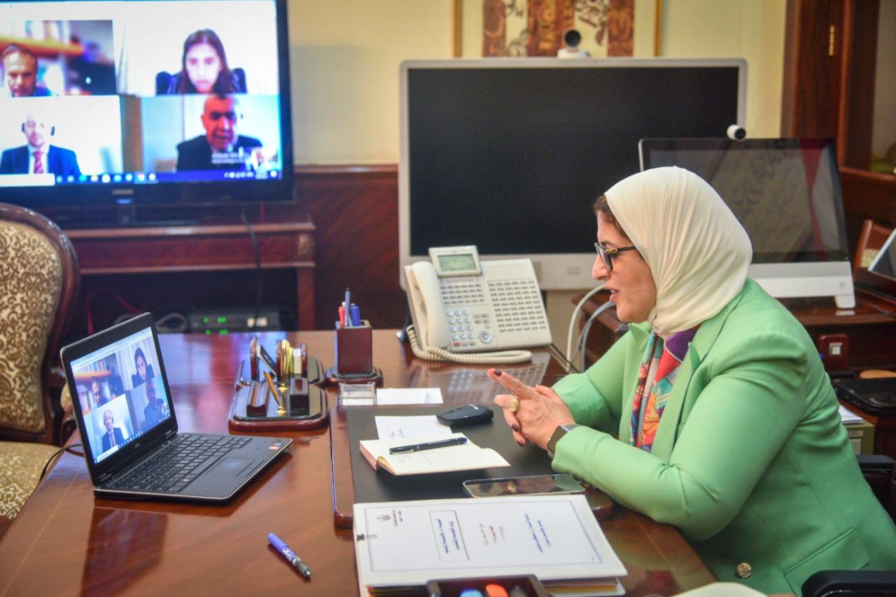 """وزيرة الصحة تبحث مع ممثلي شركة """"موديرنا"""" الأمريكية سبل التعاون لتوفير لقاح فيروس كورونا"""