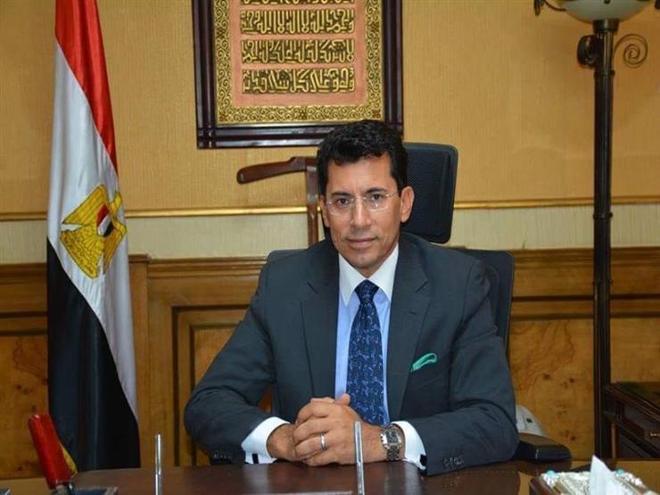 وزير الرياضة يبحث استعدادات المباراة الدولية بين بطل العالم المصري للكيك بوكسنج وبطل روسيا