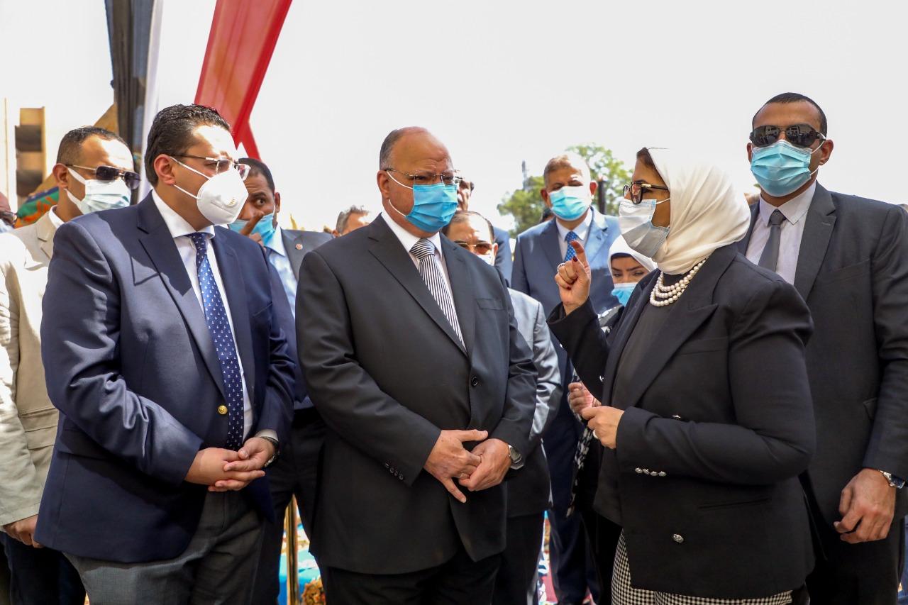 وزيرة الصحة ومحافظ القاهرة يتفقدان أعمال إنشاء مستشفى بولاق أبو العلا العام الجديد بتكلفة حوالي 750 مليون جنيه