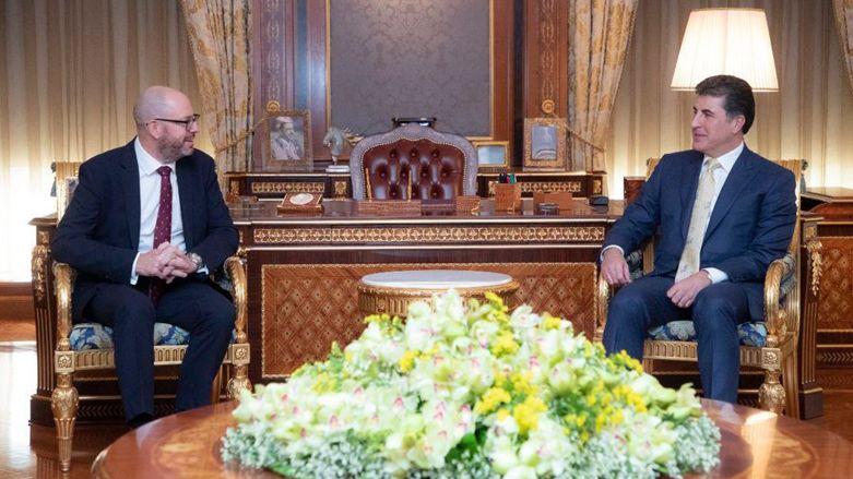 القنصل البريطاني الجديد يناقش استثمارات بلاده بكردستان ويشيد بأمن الإقليم
