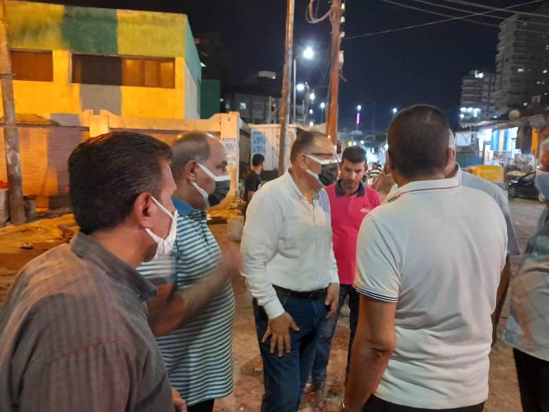 ليلاً ... محافظ الشرقية يفاجئ شوارع مدينة الزقازيق ويتابع أعمال انشاء نفق عرابي