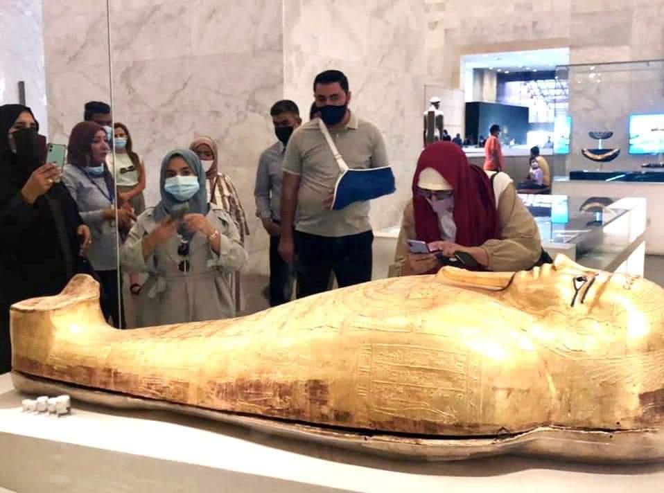 وفود رفيعة المستوي من الأردن والجابون والمجر تزور المتحف القومي للحضارة المصرية
