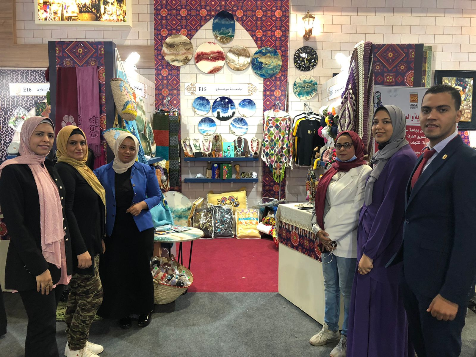 """جامعة سوهاج تشارك بـ ٥٣٥ عمل يدوي وفني بمعرض """"تراثنا"""" للحرف اليدوية والتراثية بالقاهرة"""