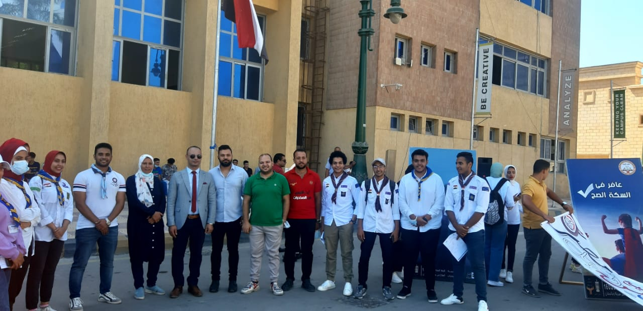حملة للتوعية بمخاطر الإدمان والمخدرات بـجامعة كفرالشيخ
