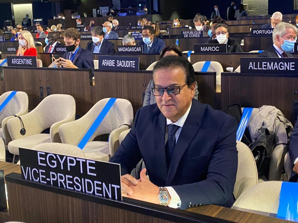 وزير التعليم العالي يلقي كلمة مصر فى الدورة (212) للمجلس التنفيذي لليونسكو
