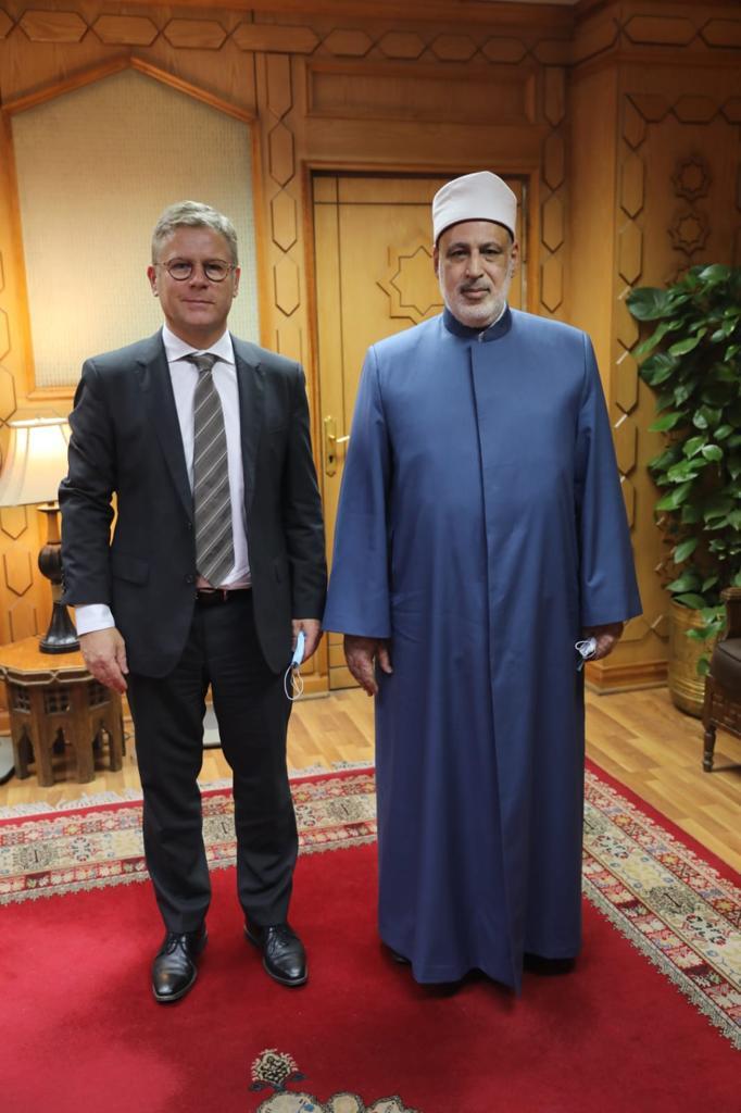 وكيل الأزهر يستقبل المندوب الدنماركي لحرية الأديان والمعتقدات لبحث سبل التعاون المشترك